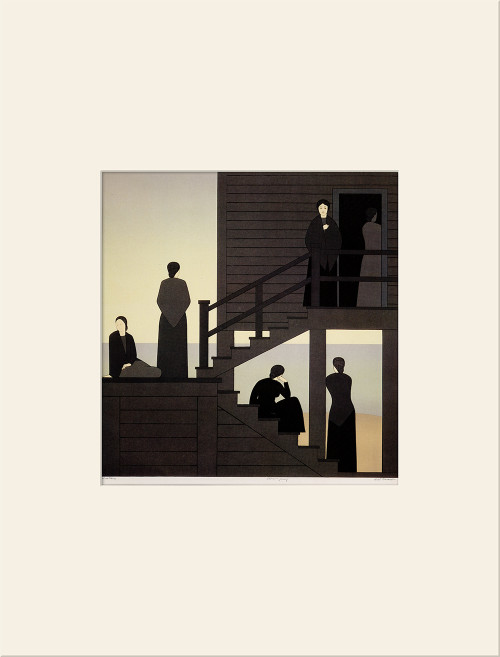 """Waiting (1976)"", Vintage Offset Lithograph After Will Barnet"