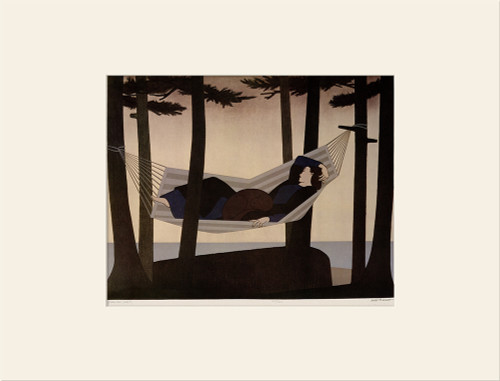 """Summer - Idyll (1976)"", Vintage Offset Lithograph After Will Barnet"
