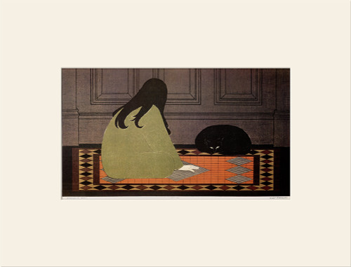 """Dialogue in Green (1970)"", Vintage Offset Lithograph After Will Barnet"