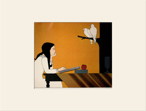 """""""Introspection (1972)"""", Vintage Offset Lithograph After Will Barnet"""
