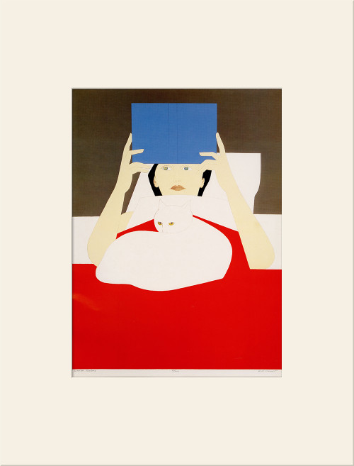 """Woman Reading (1970)"", Vintage Offset Lithograph After Will Barnet (SOLD)"
