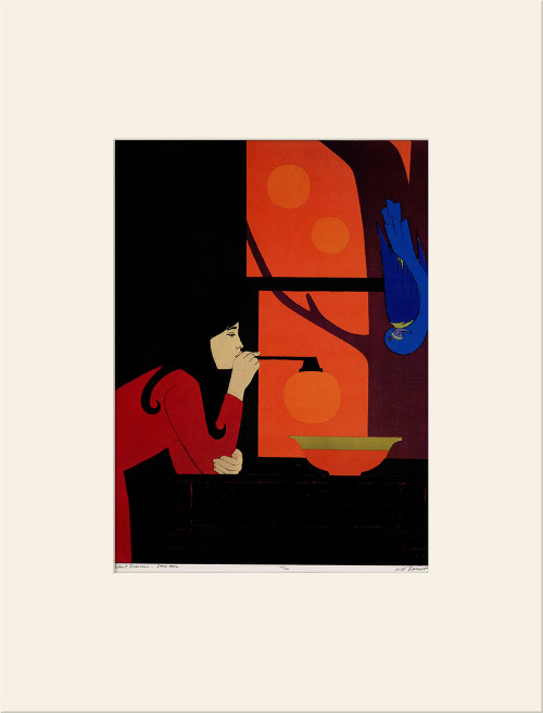"""Silent Season - Summer (1974)"", Vintage Offset Lithograph After Will Barnet"