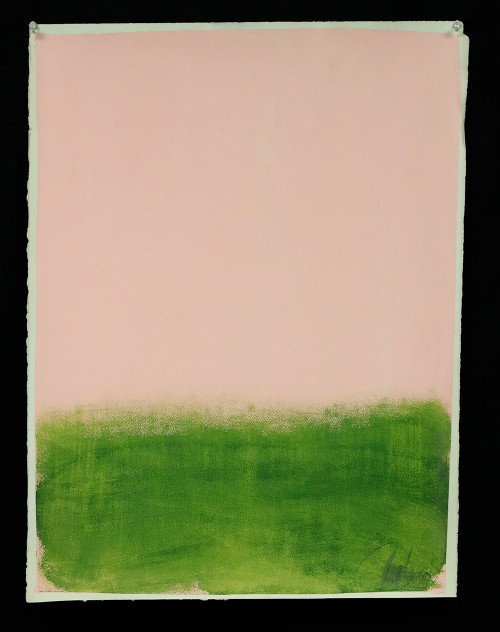 """""""Pink and Green"""", Original Painting by Filippo Ioco"""