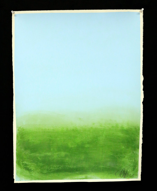 """""""Blue and Green"""", Original Painting by Filippo Ioco"""