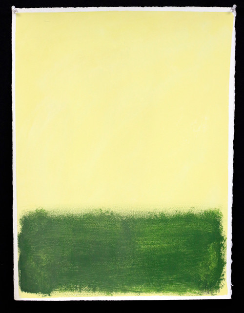 """""""Yellow and Green"""", Original Painting by Filippo Ioco"""
