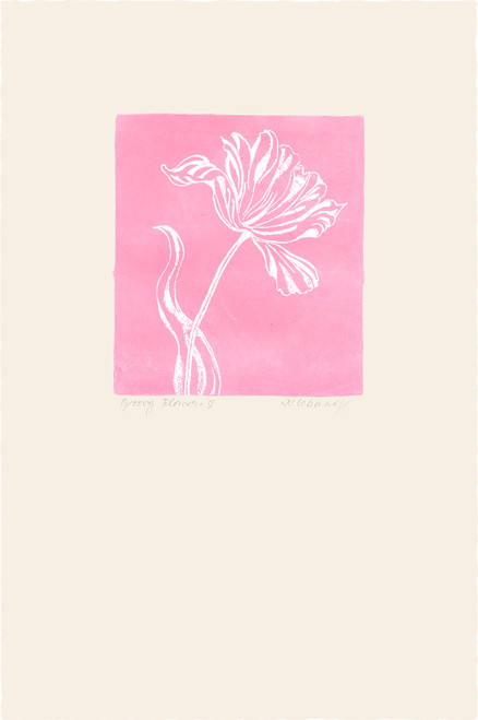 """Groovy Flowers I"", Original Etching by Anita Klebanoff"