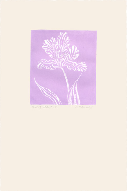 """Groovy Flowers IV"", Original Etching by Anita Klebanoff"
