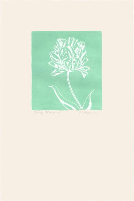 """""""Groovy Flowers III"""", Original Etching by Anita Klebanoff"""