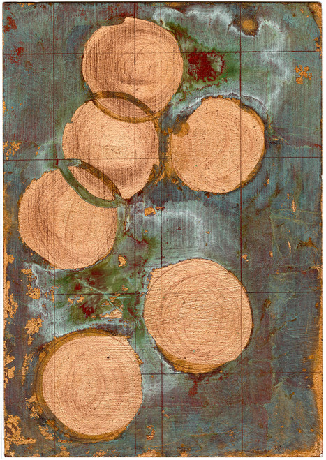 """Copper Circles I"" - Original Contemporary Art (SOLD)"