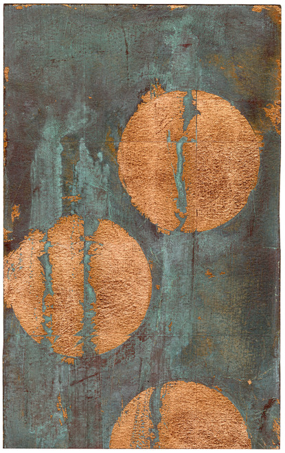 """Copper Circles II"" - Original Contemporary Art (SOLD)"