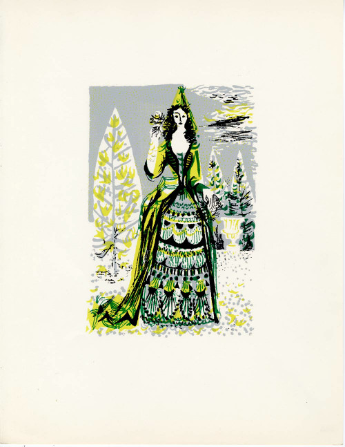 """People of Versailles"", Limited Edition Serigraph Circa 1952 (5)"