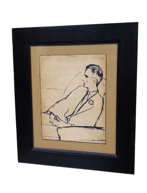 """A Serious Man"", Framed Giclee Reproduction"