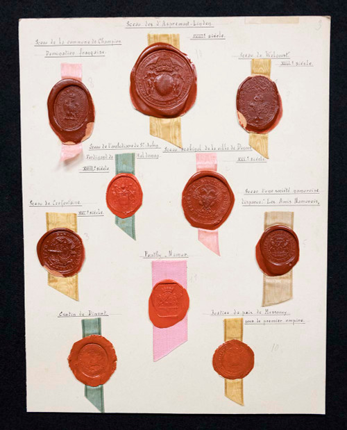 Collection of Antique Wax Seals From Belgium