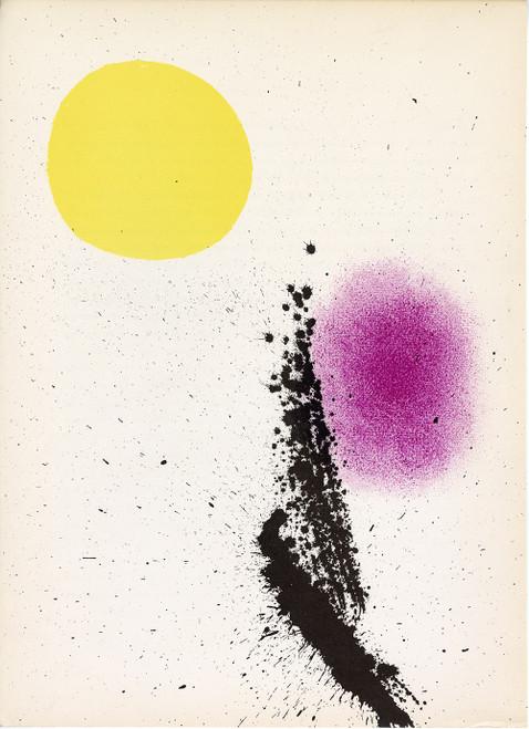 """Nouvelles IV"", Vintage Joan Miro Lithograph From Derriere Le Miroir No. 125-126, Circa 1961"