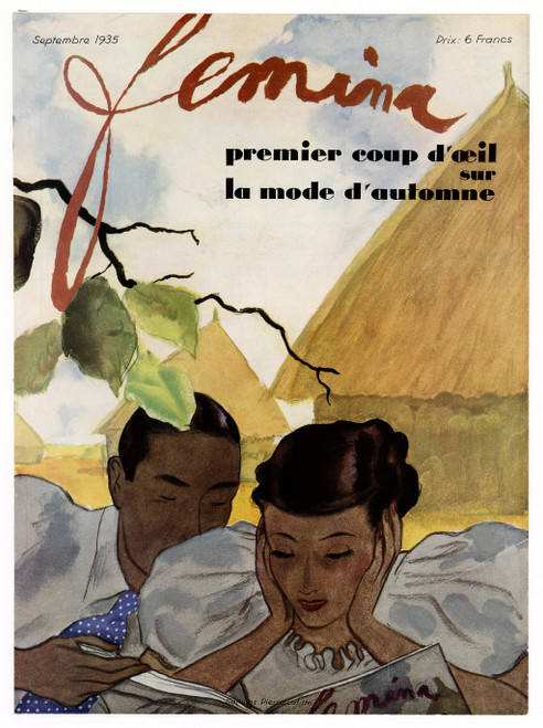 """Femina, September 1935"" Original Vintage French Magazine Cover"