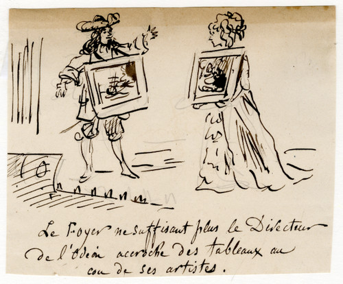 19th Century Satirical French Caricature by Cham (7) (SOLD)