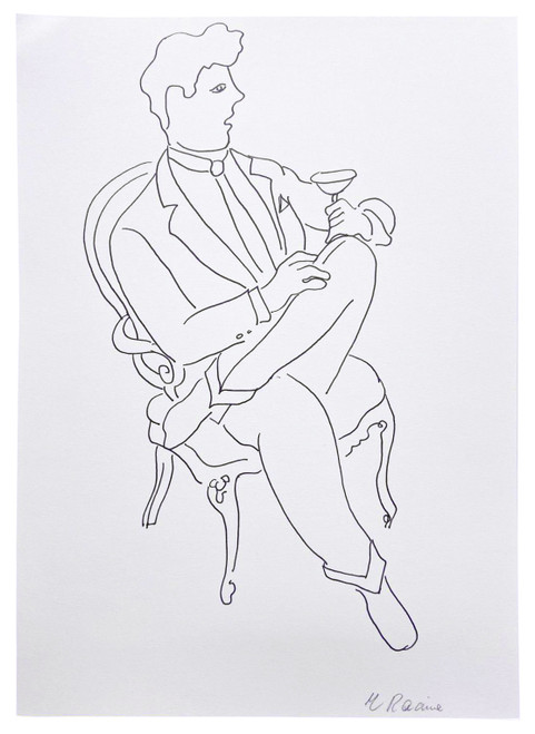 French Caricature 3, Drawing by Racine (SOLD)