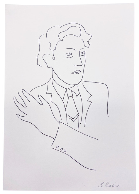 French Caricature 1, Drawing by Racine (Pen & Ink)