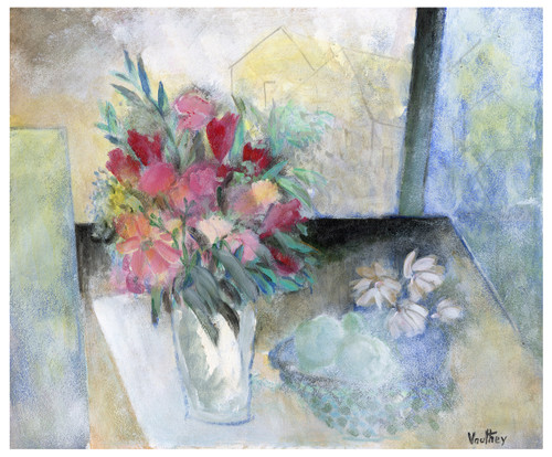 Still Life, Oil on Board  by Pierre Vauthey