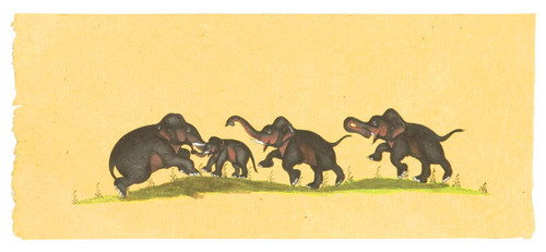 Hand Painted Indian Elephants From the 1920s (SOLD)