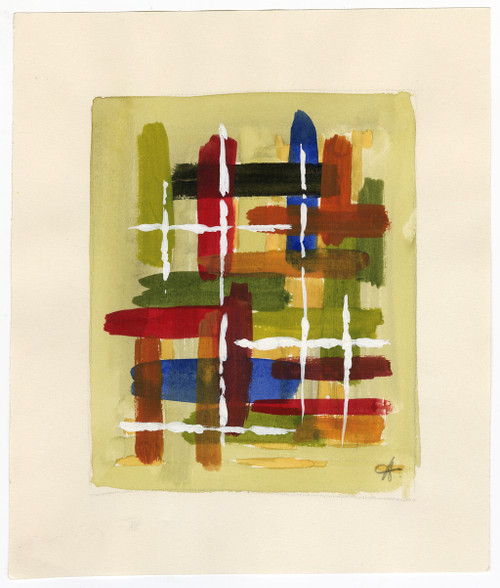 Mid-Century French Abstract Watercolor on Paper (SOLD)