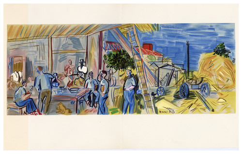 "Original Lithograph by Raoul Dufy, ""Les Moissonneurs"". (SOLD)"