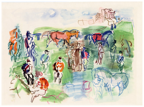 """Epsom"", Original Lithograph by Raoul Dufy (SOLD)"