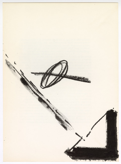 """Original Lithograph by Antoni Tapies From """"Derriere Le Miroir No. 175"""" (1968)"""