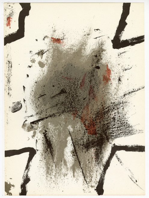 """""""Composition"""" by Antoni Tapies, Original Lithograph From """"Derriere Le Miroir No. 175"""" (1968)"""