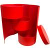 "8.5"" Triple Level Folding Box - Red"