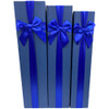 "18.75"" Blue Tall Decorative Floral Box - Set of 3"