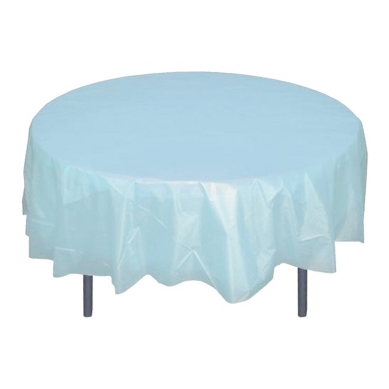 Miraculous 84 Light Blue Round Plastic Table Cover Download Free Architecture Designs Grimeyleaguecom