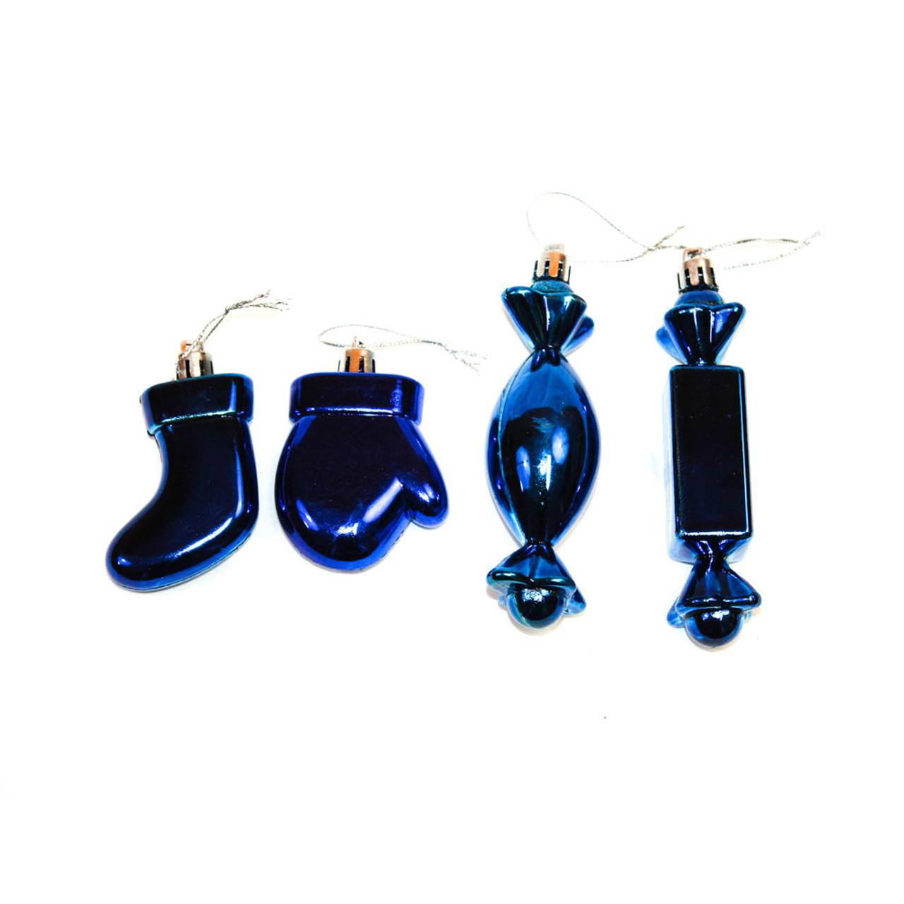 Blue Shatterproof Christmas Ornaments
