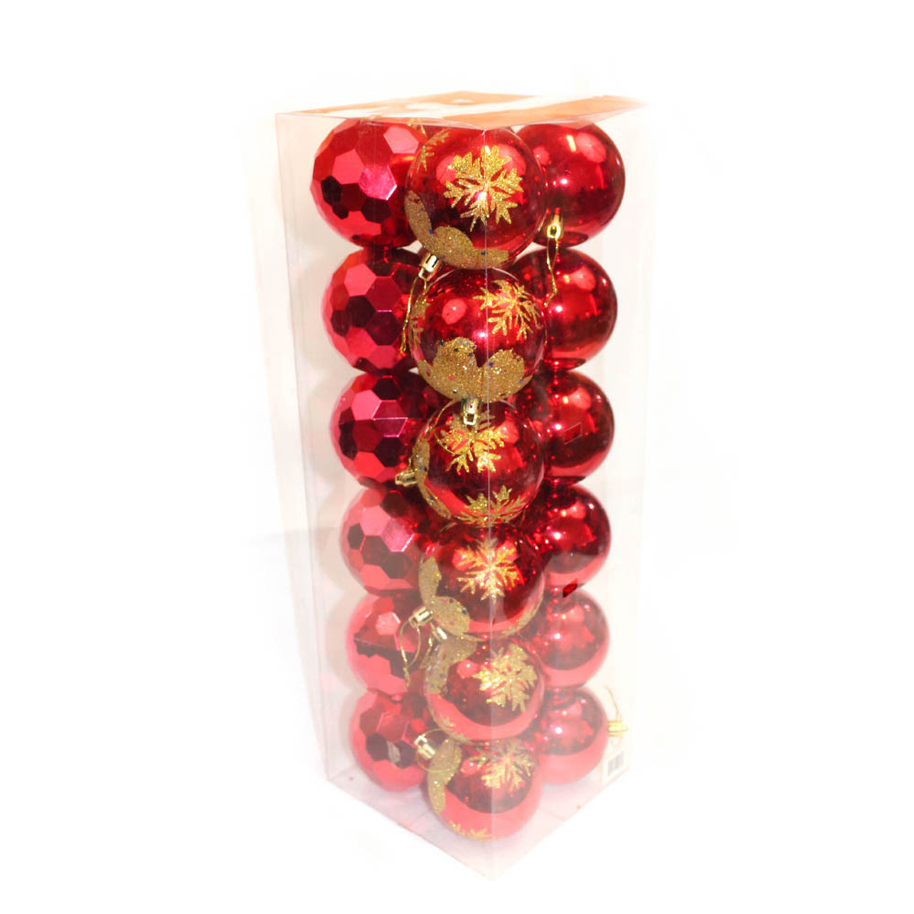 Red Christmas Ornaments.3 Red Shatterproof Christmas Ornaments