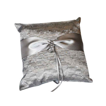 Silver Ring Bearer Pillow