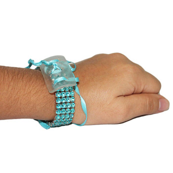Turquoise Rock Candy Flower Bracelet