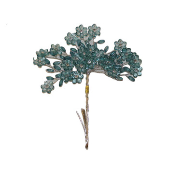 Turquoise Crystal Flowers