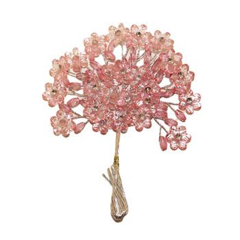 Pink Crystal Flowers