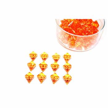 Orange Diamond Acrylic Crystal