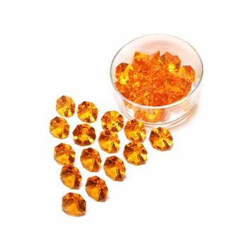 Orange Flat Diamond Acrylic Crystal