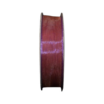 "5/8"" Mauve Metallic Sheer Ribbon"