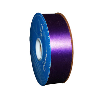 "1 7/16"" Purple Flora-Satin Ribbon"