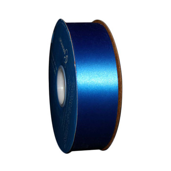 "1 7/16"" Royal Blue Flora-Satin Ribbon"