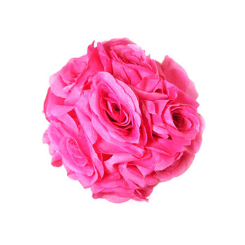"7"" Fuchsia Flower Ball"