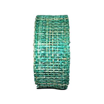 """2"""" Emerald Abaca Burlap Ribbon"""