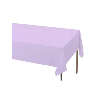 "108"" x 54"" Lavender Rectangular Plastic Table Cover"