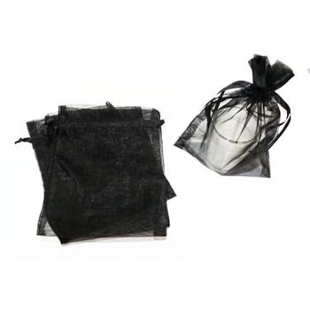 "5"" Black Organza Pouch"