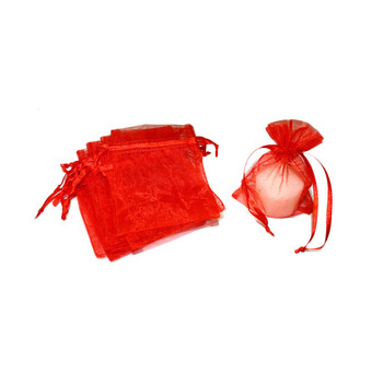 "3"" Red Organza Pouch"