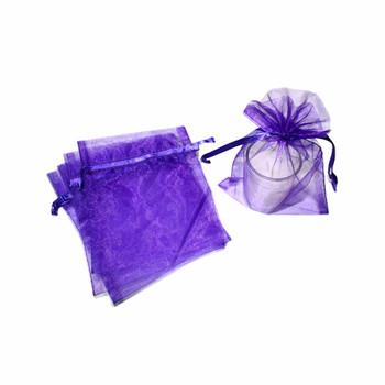 """5"""" Purple Organza Pouch"""
