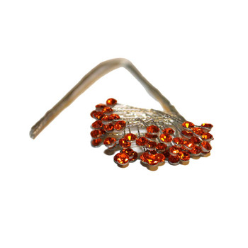 Orange Bell Rhinestone Spray